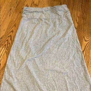 TNF gray maxi skirt size small